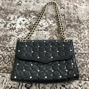 Rebecca Minkoff Studded Black Leather Shoulder Bag